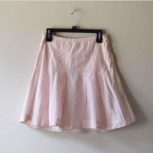 Anthropologie pink skirt with lace detail underlay